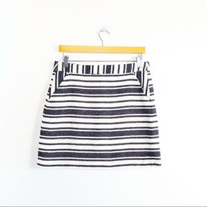 Banana Republic striped mini skirt tweed cotton 8P